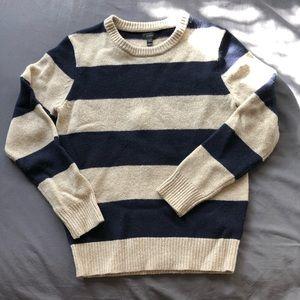 JCrew Wool Striped Sweater